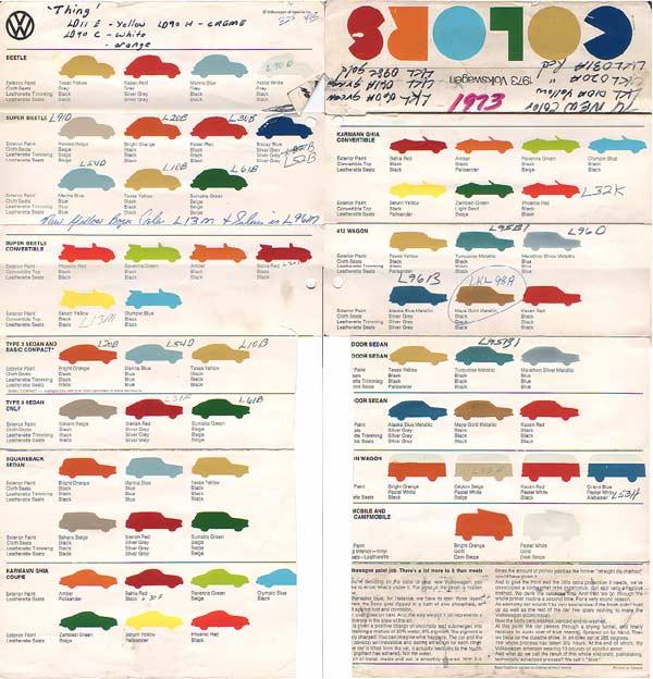 Vw Paint Colors 1972 Paint Color Ideas