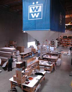 Packing and shipping area